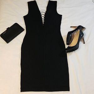 T by Alexander Wang Black V Front & Back Dress